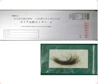 〒郵便de毛髪分析ミネラルバランス測定キット